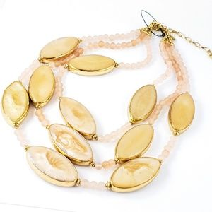 Chico's Statement Necklace Large Blush Beads